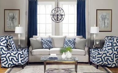 coastal decor, navy, blue